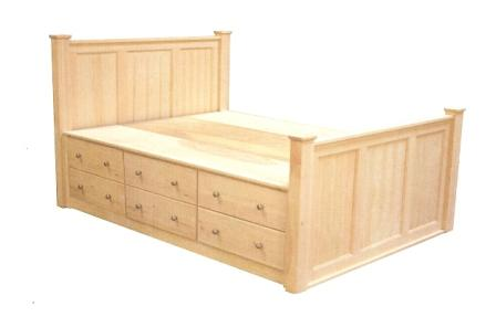 Captain bed full drawers - Storage Beds Bedrooms West