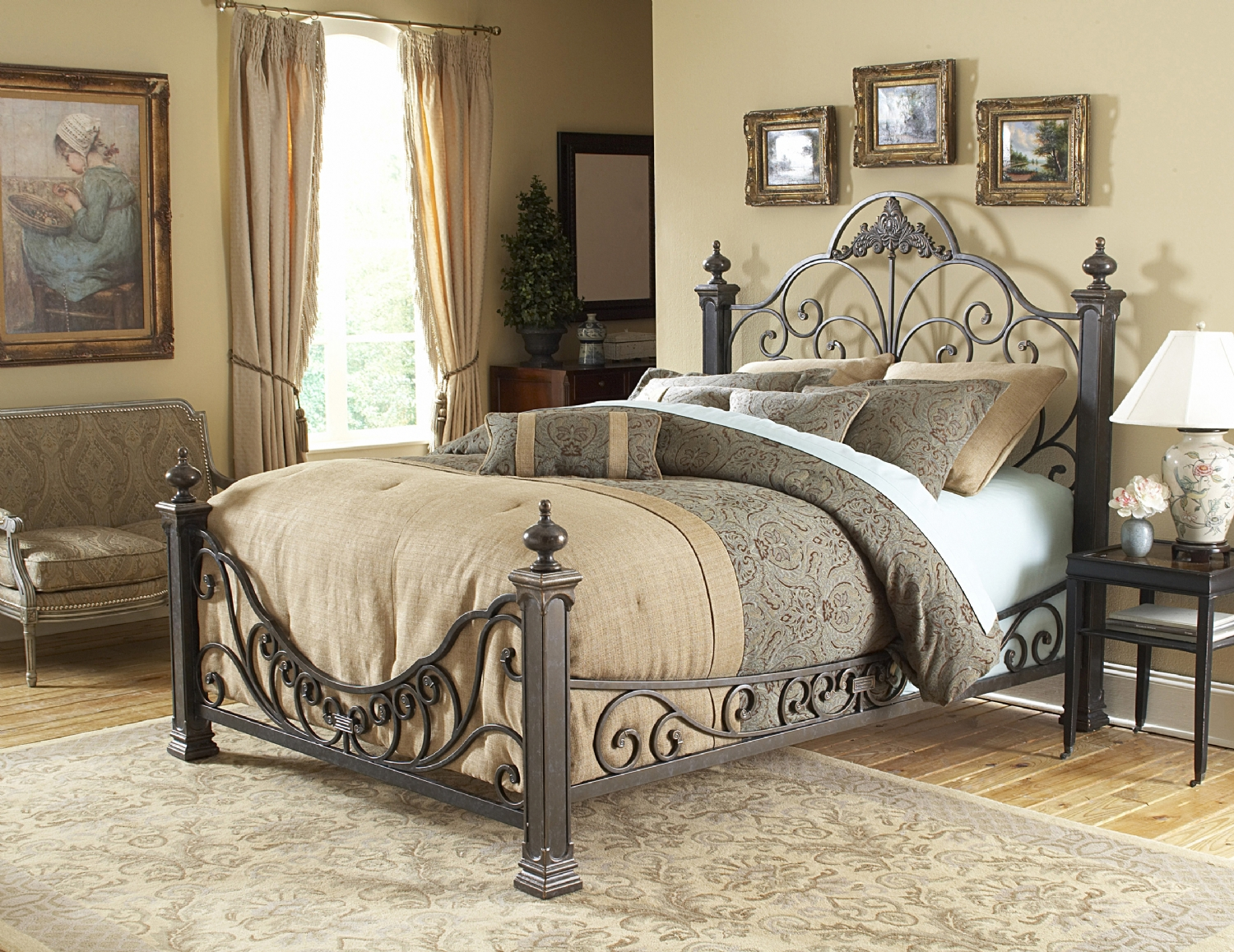 Baroque. Bedrooms West  Metal beds