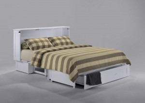 Clover Muphy Cabinet Bed White Open 2