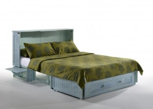 Poppy Murphy Cabinet Bed Skye with Drawer Closed & Tray Upl