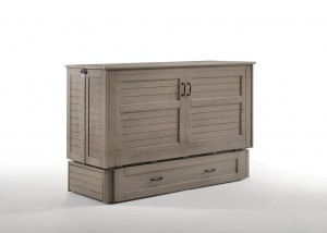 Poppy Murphy Cabinet Bed Brushed Driftwood Closed