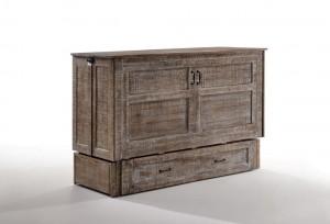 Poppy Murphy Cabinet Bed White Bark Closed